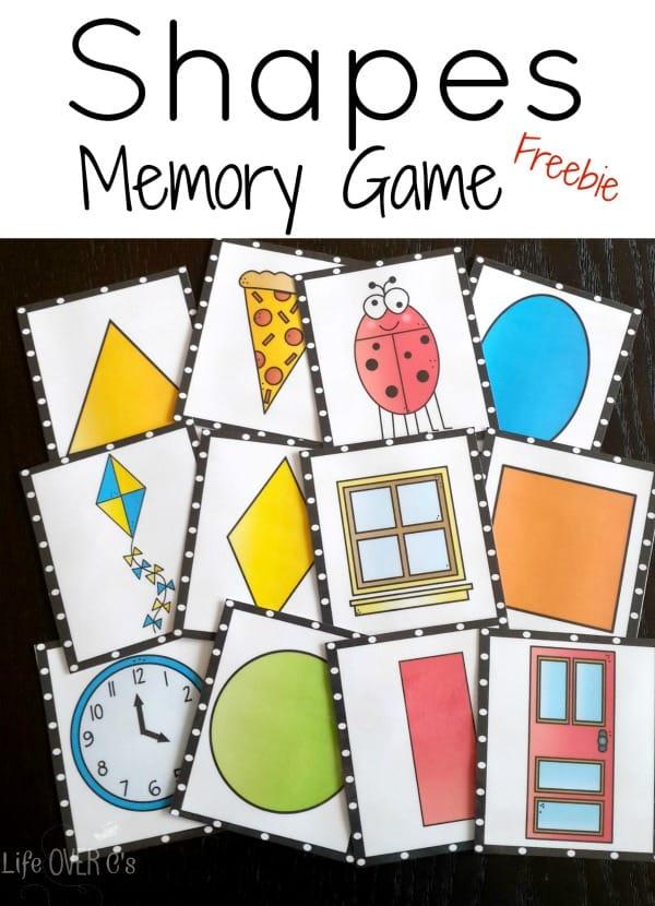 2d shapes memory games