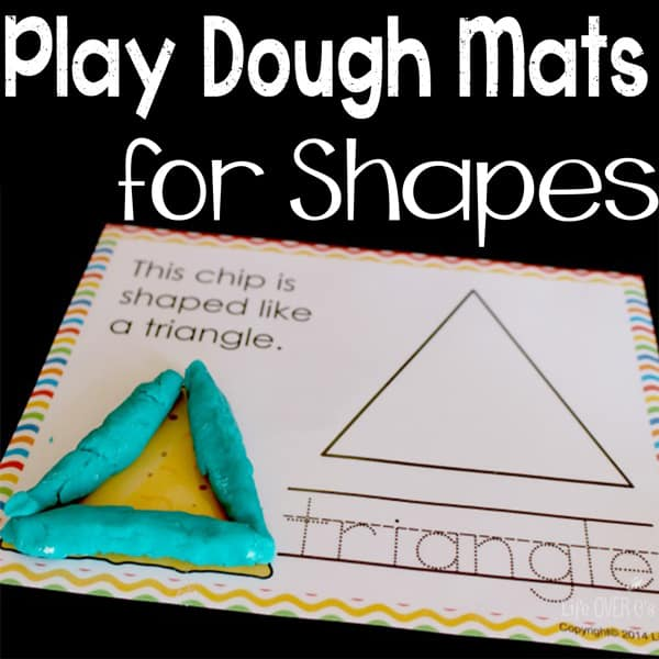 play dough mats for shapes