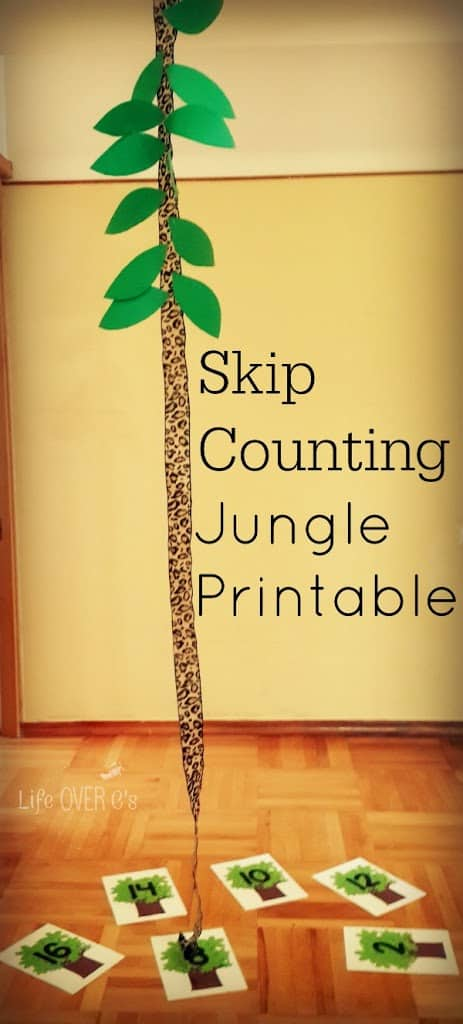 FREE Jungle Skip Counting Activity