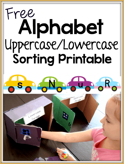 alphabet recognition with cars free printable