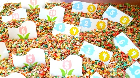 flower themed number bonds for kindergarten