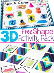 3D Shapes Free Printable Activities