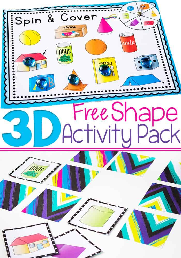 Free Printable 3D Shape Activity Pack 4 Fun Activities For Learning About Shapes