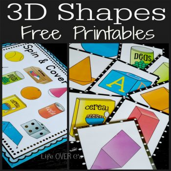 3d solids four free printable activities