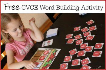 apple basket CVCE word building activity for 1st grade
