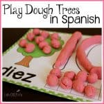 play dough mats Spanish counting 1-10