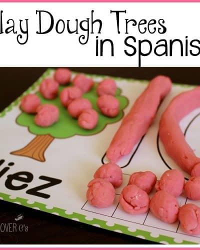 play dough mats Spanish counting 1-10