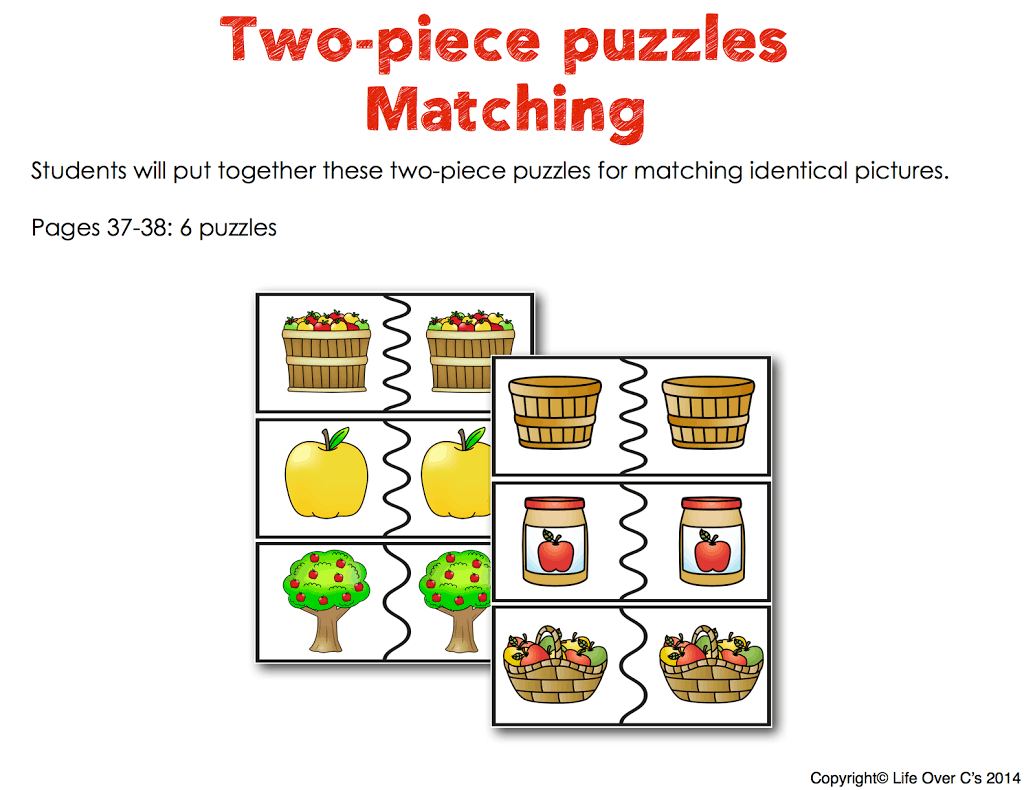 apple matching puzzles