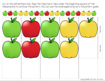 apple pattern sample page