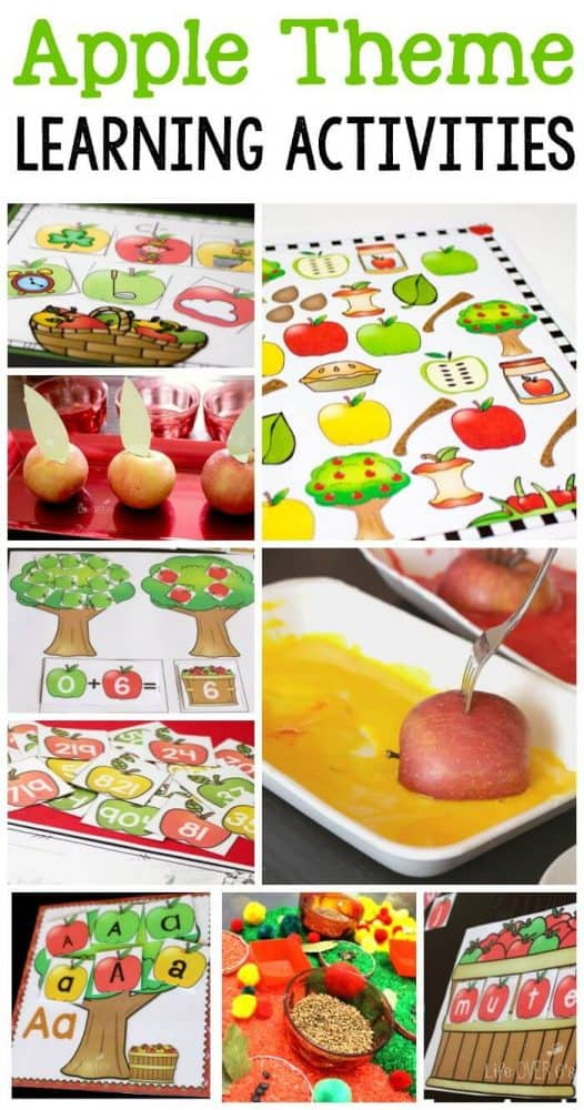So many great apple theme learning activities! Printables, sensory activities, STEM, phonics, alphabet and so much more!