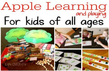 apples with play dough patterns and math