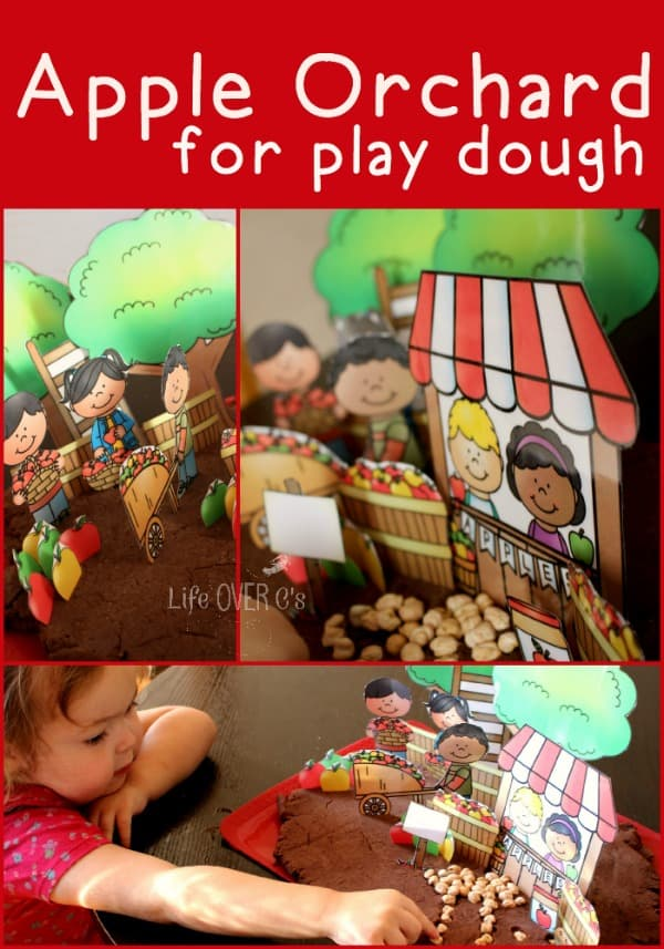 apple orchard play dough free printable