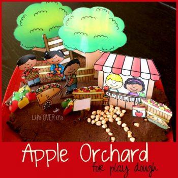 apple orchard printable for play dough
