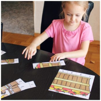counting to 5 with apple orchard puzzles