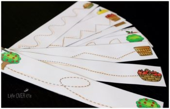 apple tracing cards