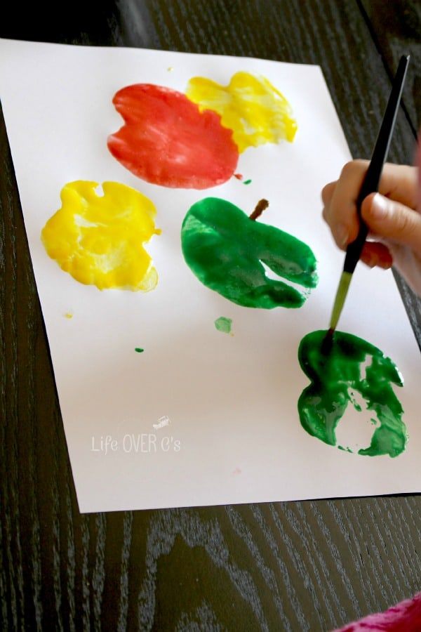 paint stems on your apple prints.