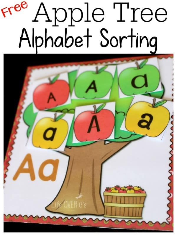 Free Alphabet Sorting Apple Trees