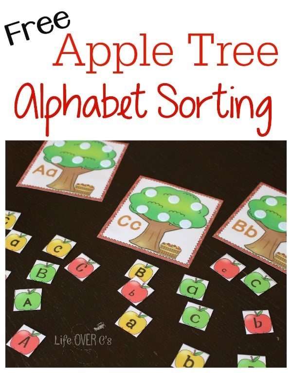 apple tree alphabet sorting free printable