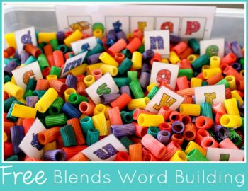 word building activity for blends