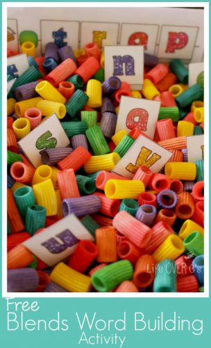 This blends word building activity is great for children who are just beginning to learn about blends.