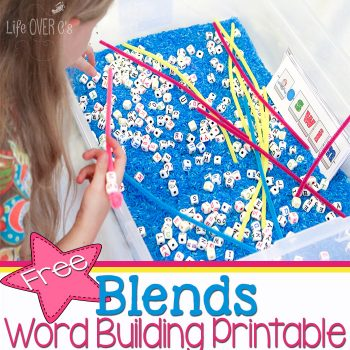 The free blends word building printable is perfect for a word work center!