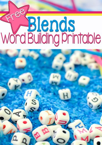 The free blends word building printable is perfect for a word work center and building fine-motor skills!