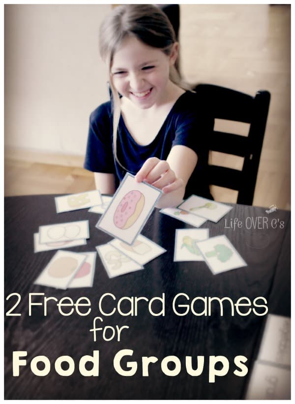free card games for food groups