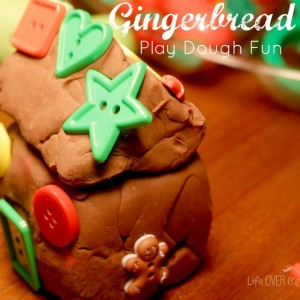 gingerbread play dough square