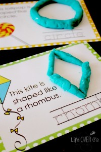 2D Shapes with play dough