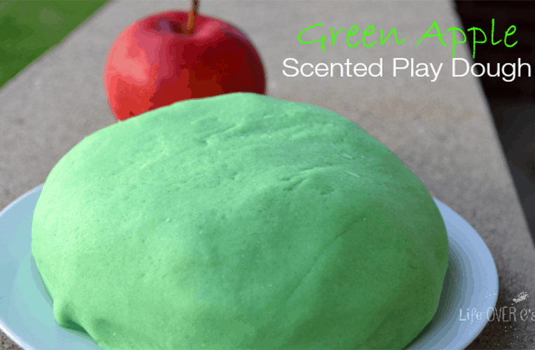 green apple play dough recipe