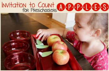 Counting apples with preschoolers