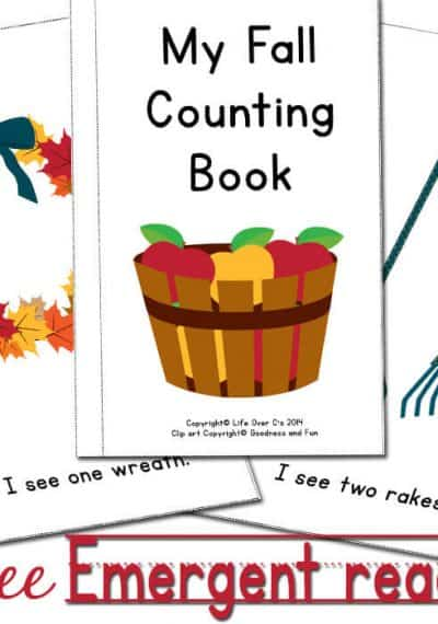 The free fall emergent reader is a perfect way to introduce counting! You can put the pages in order for a predictable text or mix them up to differentiate between learners.
