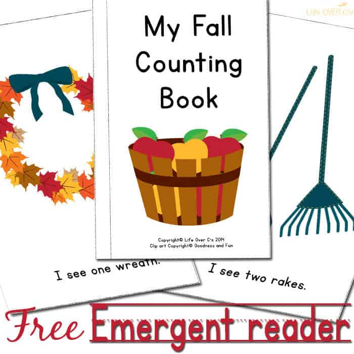 Fall Emergent Reader: Free Printable Counting Book