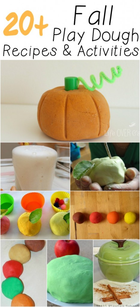 20+ Fall Play Dough Recipes and Activities