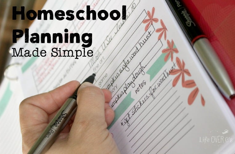 homeschool planning with Sharpie pens