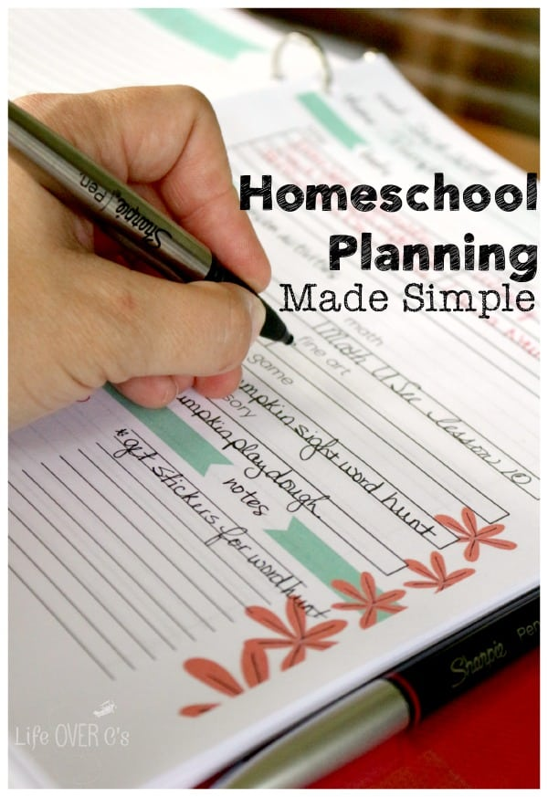 homeschool planning with binder and Sharpie pens