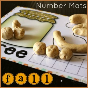 Fall number mats for 1-10. Lots of fun!
