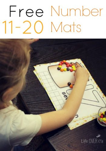 fall counting mats for numbers 11 to 20 counting with candy