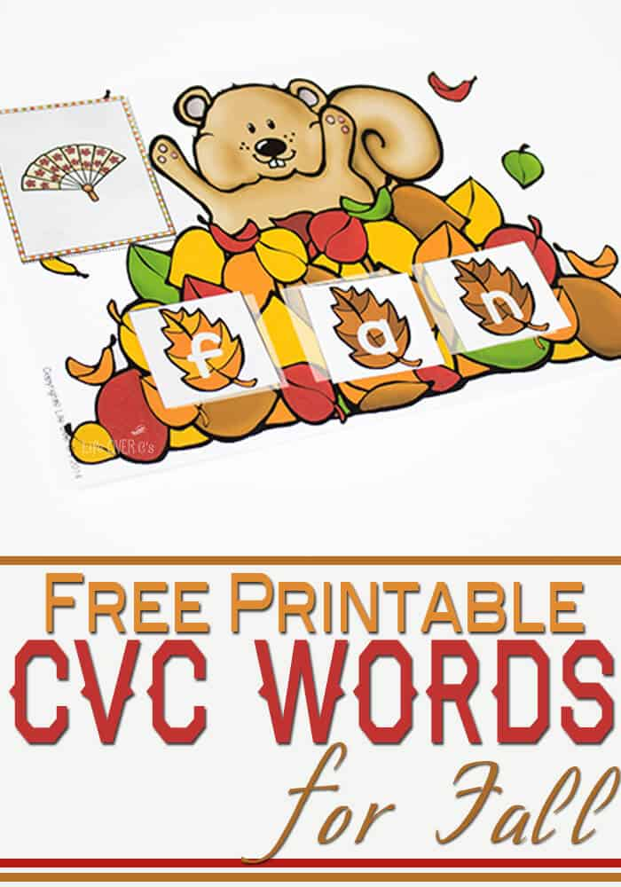 free printable CVC Word activity