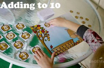 This adding to 10 printable is sure to add some fun to your fall math time!