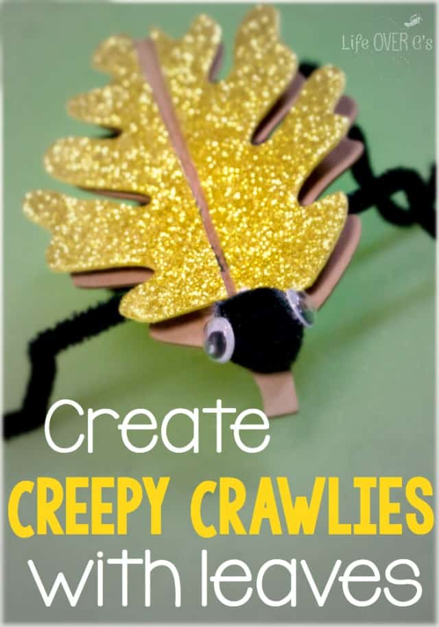 Making Creepy Crawly Crafts with Leaves