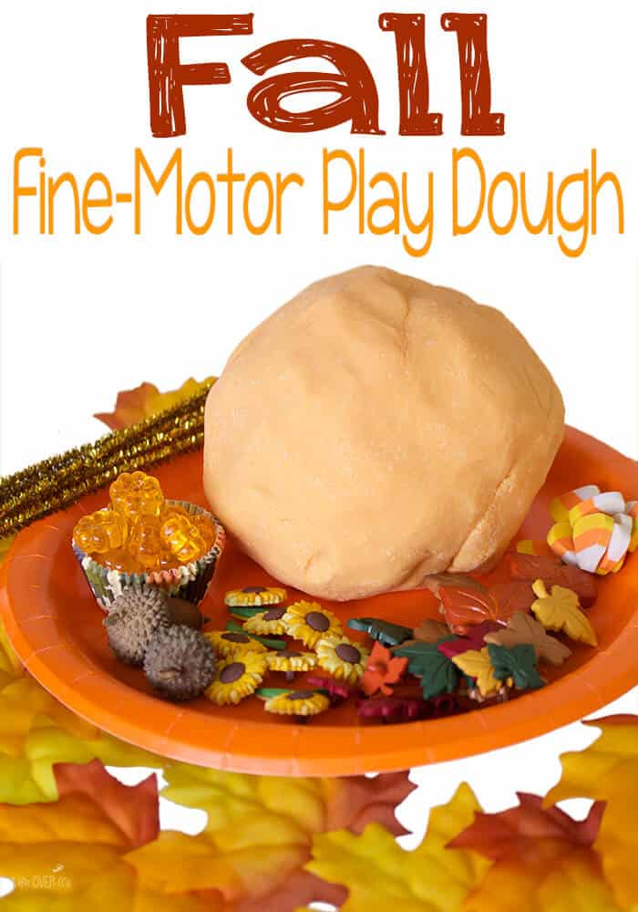 Build Fine Motor Skills with Play Dough and Small Parts