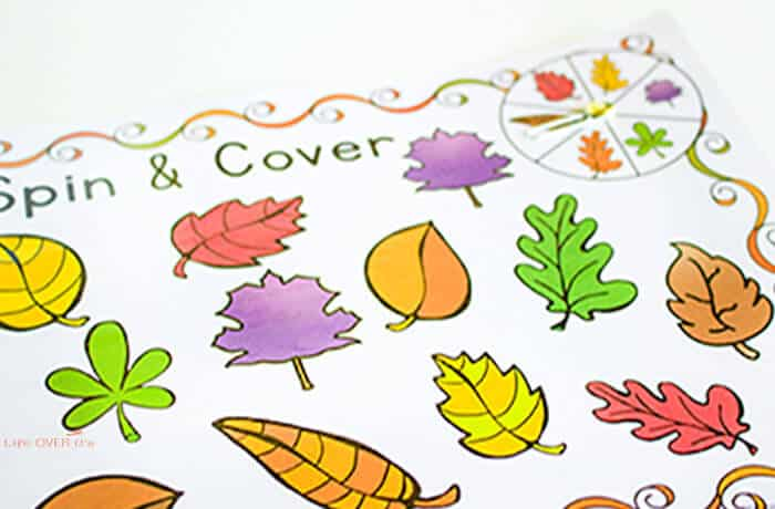 fall leaves spin & cover