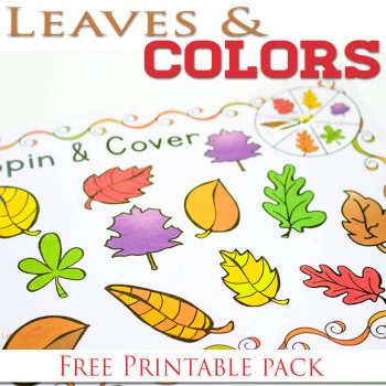 Three free printable fall leaves & colors activities. Picture-supported reading & matching!