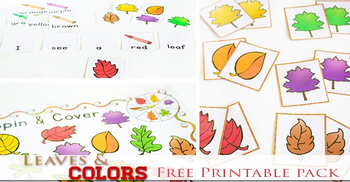 image about Free Printable Fall Leaves identified as Totally free Tumble Shades Printable Functions for Preschoolers