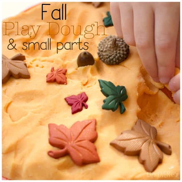 Build fine motor skills with play dough and some fun themed small parts.