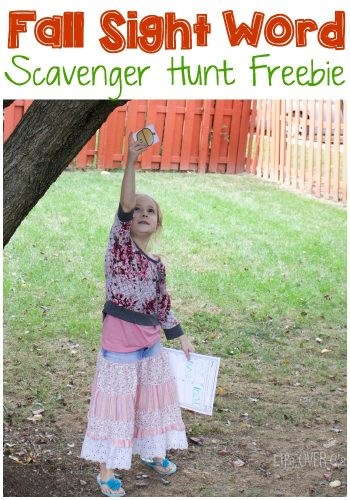 This sight word scavenger hunt is a wonderful way to get kids moving around while practicing their reading skills.
