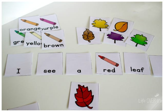 Free fall colors printable activities for preschoolers for Sentence of floor