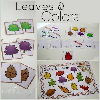 Download this fun fall colors printable for three fun activities that are just perfect for autumn.