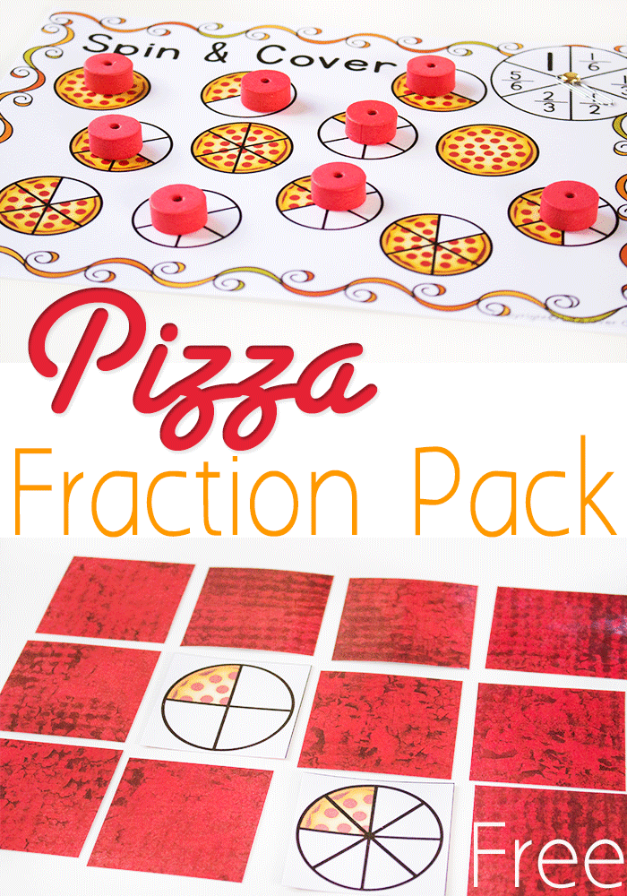 photo about Printable Fraction Games named Free of charge Pizza Portion Printable Actions: Identical Fractions